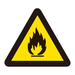 PL Warning Display Label (Easy Type) PL-2 FLAMMABLE SUBSTANCE
