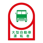 "Helmet Stickers ""Large Size Vehicle Driver"""