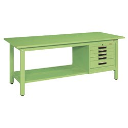 Light Weight Work Bench Model KK, Cabinet Provided