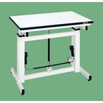 Gas Spring Type Adjustable Height Workbench Uniform Load 100 kg Ivory