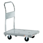 Plastic Hand Truck, Silent Casters, Fixed Handle