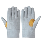 Cow Split Leather Gloves_107B Sleeve 11 cm, Total Length (cm) 24