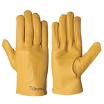 Genuine Cow Leather Gloves_714 Yellow P