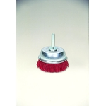 Cup Brush with Grit Shaft, with Abrasive Grain #60