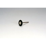 Miniature Black Bristle Shaft Mounted Wheel Brush
