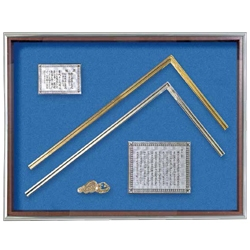 Gold and Silver Carpenter's Square, Frame Set