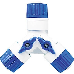 Three-way hose joint w/ valve