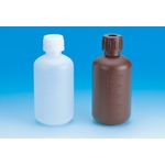 Narrow-Mouthed Bottle Made of PE, Capacity 30 ml to 20 L, White and Brown