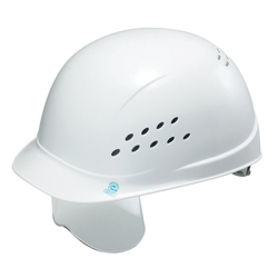 Light Work Cap Bump Cap (Made of PE Resin, with Ventilation Holes, with Protective Shield, with EPA) ST-143SH-EPA