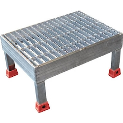 Coupled grated aluminum steps