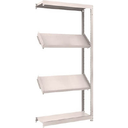 Small to Medium Capacity Boltless Shelf Model M1.5 (150 kg Type, Height 1,800 mm, 4 Shelf Type of Which 2 Are Inclined Shelves, Front Strike Plates Provided) Linked Type