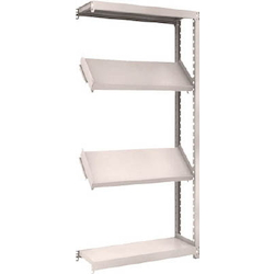 Small to Medium Capacity Boltless Shelf Model M2 (200 kg Type, Height 1,800 mm, 4 Shelf Type of Which 2 Are Inclined Shelves, Front Strike Plates Provided) Linked Type