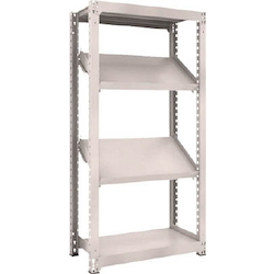 Medium Capacity Boltless Shelf Model M3 (300 kg Type, Height 1,800 mm, 4 Shelf Type of Which 2 Are Inclined Shelves, Front Strike Plates Provided) Single Unit Type