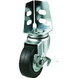 Angle Type Casters (Rubber Wheels) Flexible (With Stoppers)