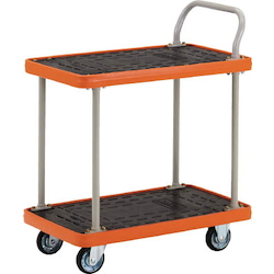 MKP Resin-Made Spillproof Cart, Single-Wing, 2-Level Type