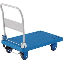 Plastic Trolley, Grand Cart, Silent, Folding Handle Type / with Stopper