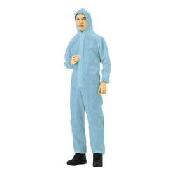 Nonwoven disposable protective clothing, overalls, blue