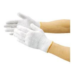 Cotton-mixed cotton gloves (S-size, 10 pairs)
