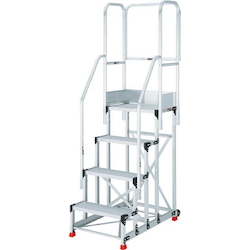 Work Platform (Heavy Duty Type with Hand Rails and Casters)