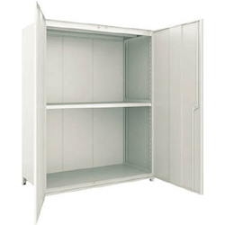 Small to Medium Capacity Boltless Shelf Model M2 (Panels and Doors Provided, 200 kg Type, Height 1,800 mm, 3 Shelf Type) Single Unit Type (Height 1,800 mm, Rear and Side Plates Provided)