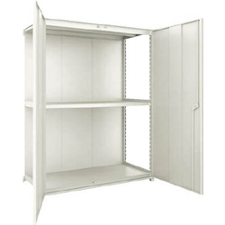 Small to Medium Capacity Boltless Shelf Model M2 (Panels and Doors Provided, 200 kg Type, Height 1,800 mm, 3 Shelf Type) Linked Unit Type (Height 1,800 mm, Rear Plates Provided)