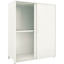 Small to Medium Capacity Boltless Shelf Model M2 (Panels and Double Sliding Doors Provided, 200 kg Type, Height 1,800 mm, 3 Shelf Type) Single Unit Type (Height 1,800 mm, Rear and Side Plates Provided