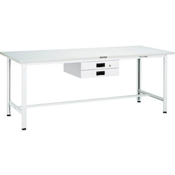 Light Work Bench with 2 Thin Drawers Linoleum Tabletop Average Load (kg) 300