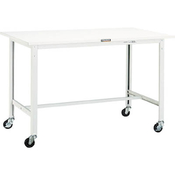 Light Work Bench with φ75 mm Casters Steel Tabletop Average Load (kg) 150