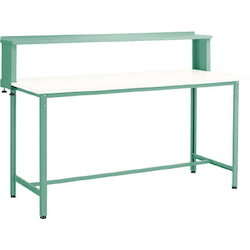 Standing Light Work Bench with Upper Shelf Plastic Panel Tabletop Average Load (kg) 300