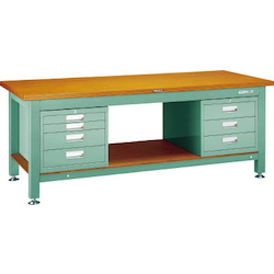 Heavy Work Bench with 3-Shelf / 4-Shelf Cabinet Steel Tabletop Average Load (kg) 3000