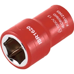 Insulated Socket Plug, Insertion Angle 6.35 mm