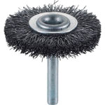 Wheel Brush with Shaft (for Motorized Use/Shaft Diameter 6 mm/Round Shaft Type) (Steel Wire)