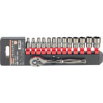 Socket wrench set (6 sided type / 6.35 mm Insertion Angle)