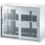 Stainless Steel Storage - Glass Sliding Door Type with Frame