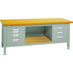 Heavy Work Bench with 3 Face Panel / 3-Shelf / 4-Shelf Cabinet Average Load (kg) 3000