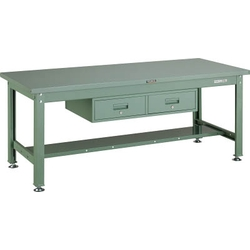 Medium Work Bench with 2 Side by Side Drawers Average Load (kg) 2000