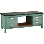 Heavy Work Bench with 3 Face Panel / 3-Shelf Cabinet / Locker Average Load (kg) 3000