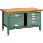 Heavy Work Bench with 4-Shelf Cabinet / Locker Average Load (kg) 3000
