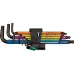 Multi-Color Ball Point Hex Wrench Set (Set of 9 Pieces)