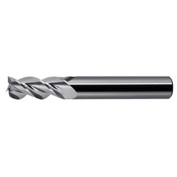 WATERMILLS ® End Mill for Aluminum WR345 3-Flute High-Helix AL R345, No Coating