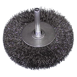 Steel Wire Wheel Brush with Shaft