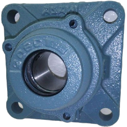 Square flange type unit, cylindrical bore type with set screw, CUCF type
