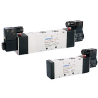 Electromagnetic Valves 4V400 series - 5 ports 2 positions/5 ports 3 positions