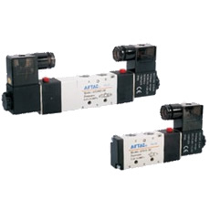Electromagnetic valve, 4V200 series, 5 ports, 2 positions/5 ports, 3 positions