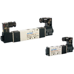 [In-stock item] Solenoid Valve 4V100 Series, 5 Ports 2 Positions, 5 Ports 3 Positions