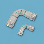 Double Press 90° Compact Elbow with Safety Function, for Stainless Steel Pipes
