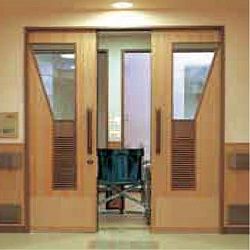 789AK air move semi-automatic linked pull apart suspended door system (inclined rail)