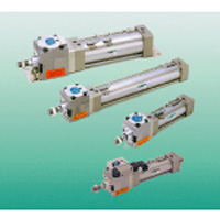 Tie rod type cylinder JSG series with intermediate stop function and with brake