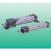 SELEX cylinder USC series with free position fall prevention and intermediate stop function