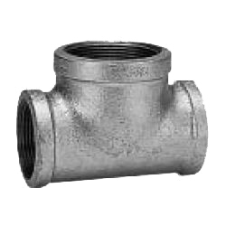 CK Fittings - Screw-in Type Malleable Cast Iron Pipe Fitting - Unequal Diameter (Small Diameter Branches) Tee with Band